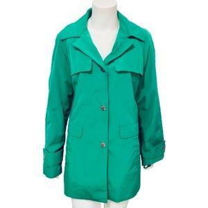 CALVIN KLEIN   Women's Hooded Snap Up Rain Jacket